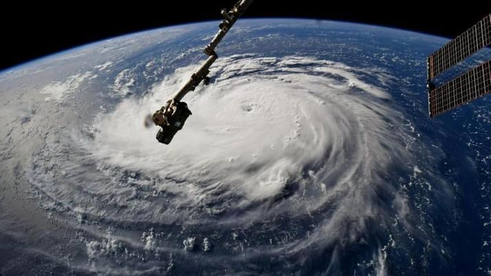 Cantik tapi Bahaya, Ini Rupa Badai Florence dari Luar Angkasa