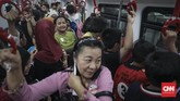 Ujicoba operasiLRT dilakukan setelah Kementerian Perhubungan mengeluarkan dua surat rekomendasi.(CNN Indonesia/ Hesti Rika)