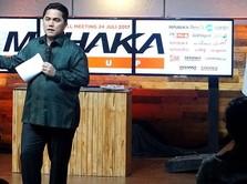 Jokowi-Prabowo Adem, Saham Perusahaan Erick Thohir Melesat 6%