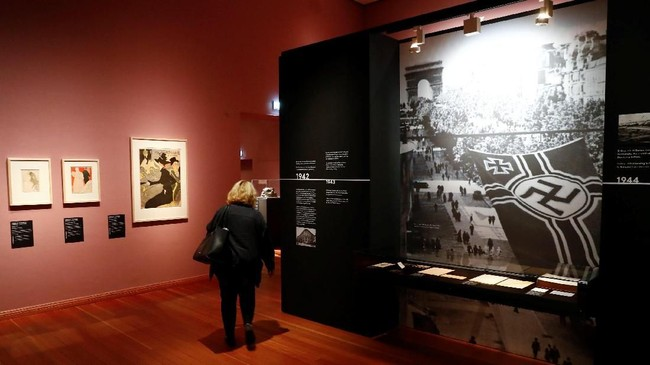 Pada 2012, sebbuah penemuan polisi di rumah Cornelius Gurlitt di Munich, Jerman menggegerkan dunia seni. Di rumah kecil itu, terdapat ratusan karya seni para maestro dunia.(REUTERS/Fabrizio Bensch)