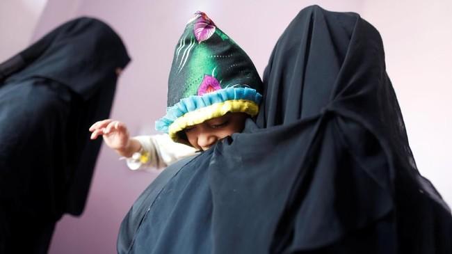 UNICEF juga memberikan perawatan mikronutrien kepada sekitar 317 ribu balita di atas lima tahun. (REUTERS/Khaled Abdullah)