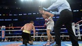 Dalam laga pada akhir pekan menghadapi Golovkin asal Kazakhstan, petinju Canelo memulai duel dengan percaya diri. (Joe Camporeale-USA TODAY Sports)