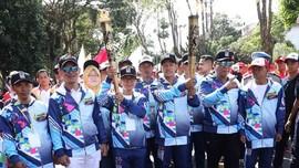 Serunya Kirab Obor Para Asian Games 2018 di Bali
