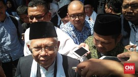 Kunjungi Masjid Untirta, Ma'ruf Minta Doa dan Bantah Kampanye