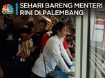 Ngobrol Sambil Naik LRT Palembang Bareng Menteri Rini