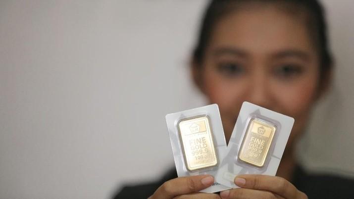 Harga Emas Dunia Menguat, Emas Antam Turun Rp 3.000/gram