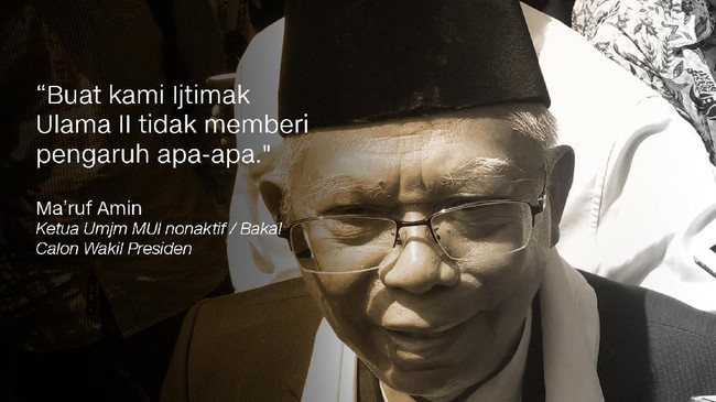 Ketua Umum MUI/Bakal Calon Wakil Presiden, Ma'ruf Amin