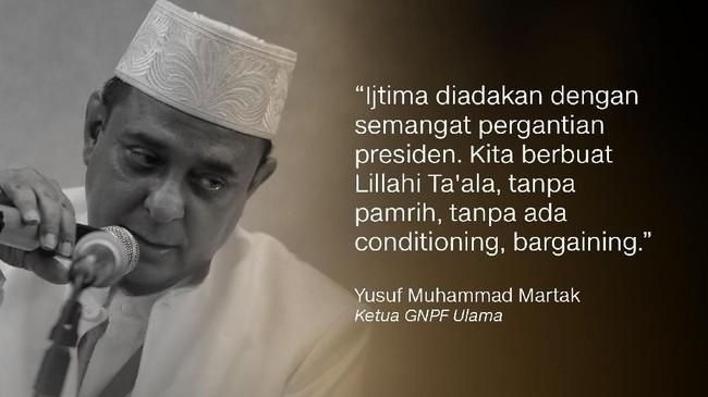 Ketua GNPF Ulama, Yusuf Muhammad Martak