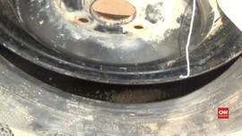 VIDEO: Polisi Tangkap Pengiriman Sabu Disimpan di Ban Serep