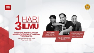 Ajang Inspiratif 1 Hari 3 Ilmu Akan Digelar di Yogyakarta