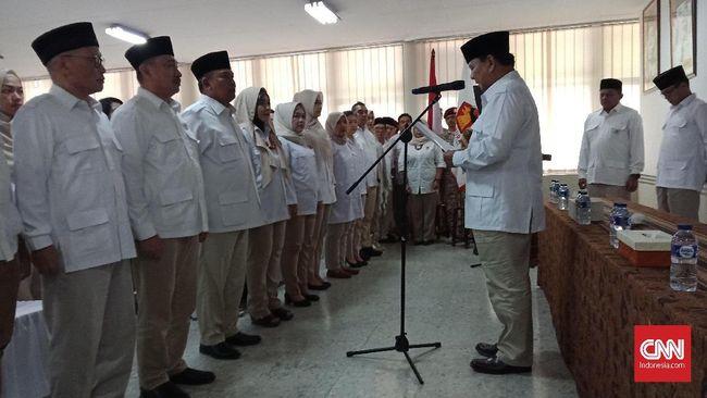 Prabowo Lantik Taufik Hidayat Jadi Ketua DPD Gerindra Jabar