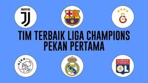 INFOGRAFIS: 11 Pemain Terbaik di Pekan Pertama Liga Champions