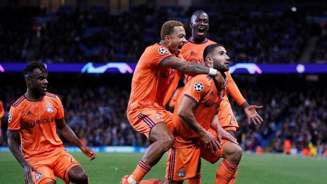 Manchester City Dipermalukan Lyon di Kandang Sendiri