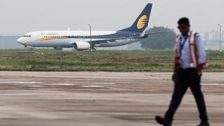 Jet Airways Gagal Terima Dana Darurat, Operasional Dibekukan