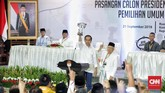 Jokowi bersyukur mendapatkan nomor urut satu di pilpres 2019. Jokowi mengatakannomor uruttersebut sesuai harapannya karena menandakan sebagai simbol semangat untuk membuat Indonesia bersatu.