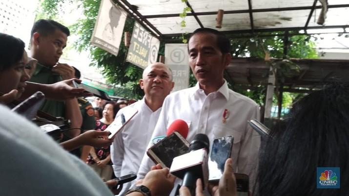Jokowi mengaku tidak memiliki persiapan khusus sebelum acara tersebut.