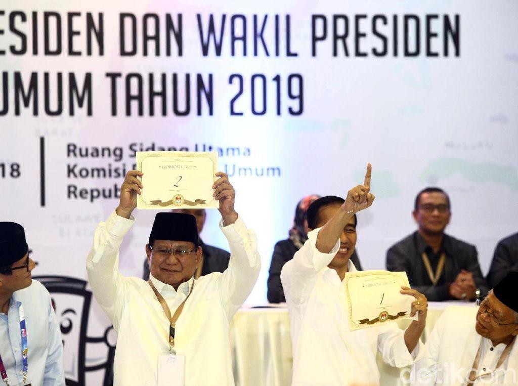 Ekspresi Prabowo Saat Dapat Nomor Urut 2