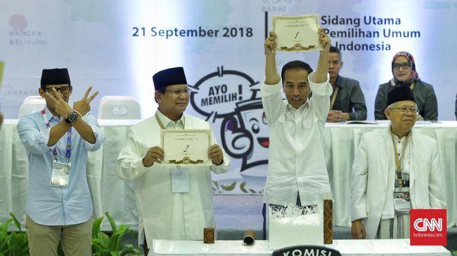 Survei: Jokowi-Ma'ruf Unggul di Jawa, Prabowo-Sandi Sumatra