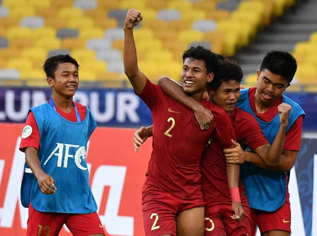 Si Kembar Bagas-Bagus Cetak Gol, Indonesia Kalahkan Iran