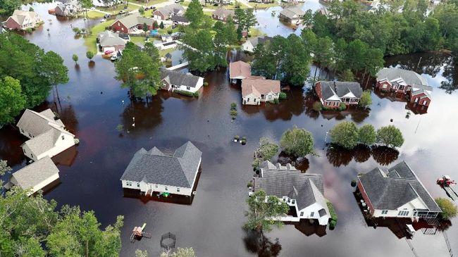 Banjir Besar Usai Florence, Ribuan Warga AS Diminta Mengungsi