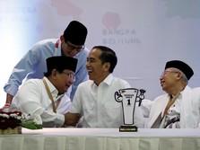 Jelang Ma'ruf vs Sandi, Di Mana Jokowi dan Prabowo?