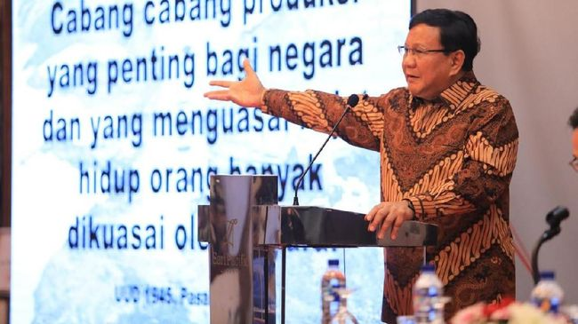Prabowo: Mata Uang Lemah Cermin Ekonomi Lemah