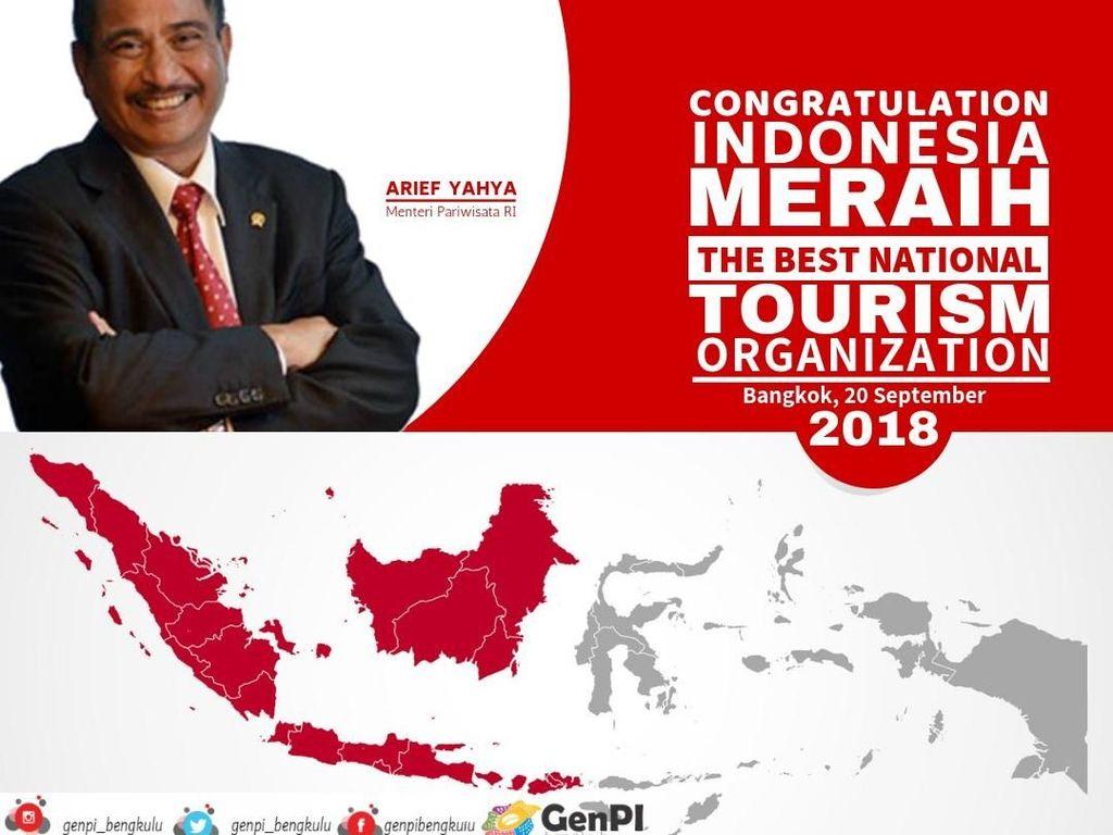 Raih Best Ministry of Tourism, Kinerja Menpar Diapresiasi