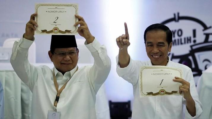 Perolehan suara pasangan calon presiden dan wakil presiden nomor urut 01 Joko Widodo- Ma'ruf Amin terus bertambah.