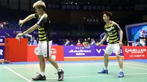 Kalahkan Senior, Marcus/Kevin ke Final Hong Kong Terbuka 2018