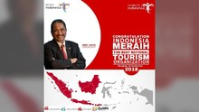 Ahli Marketing Puji Menpar Raih Best Ministry of Tourism