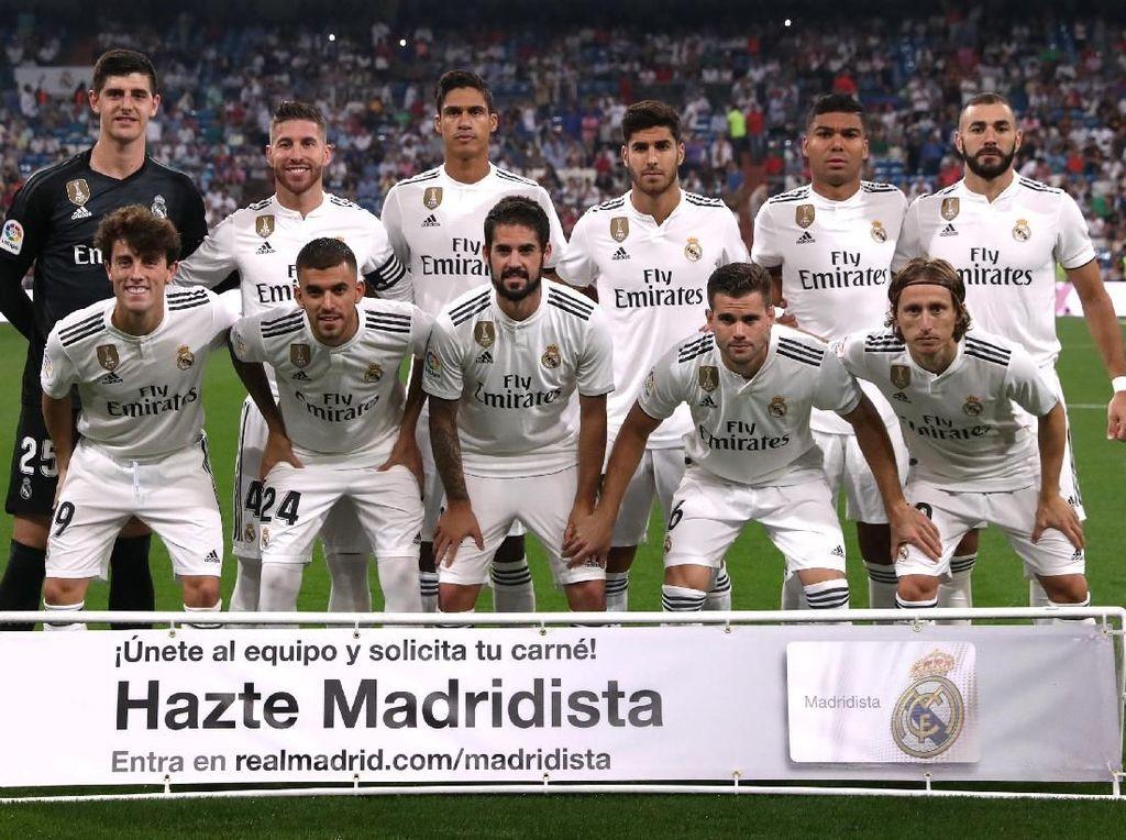Berkat kemenangan ini, Madrid untuk sementara naik ke puncak klasemen dengan 13 poin dari lima pertandingan. Semetnara Espanyol ada di urutan keenam dengan tujuh poin. REUTERS/Susana Vera.