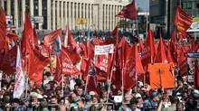Ribuan Orang Berdemo di Moskow Tolak Peningkatan Usia Pensiun
