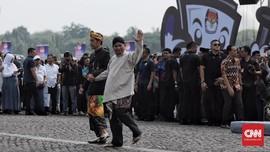 Acara Deklarasi Usai, Prabowo Joget 'Damai'