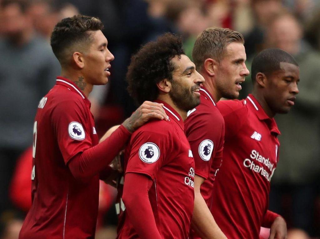 Liverpoo menutup babak pertama dengan keunggulan 3-0. Di babak kedua The Reds menurunkan tekanan dan tak banyak peluang tercipta. (Lee Smith/REUTERS)