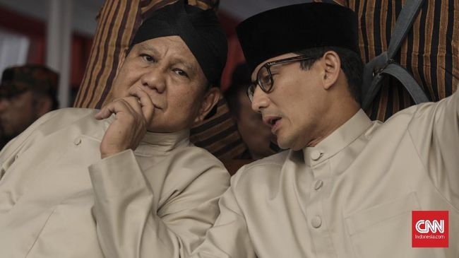 Prabowo-Sandi Pertimbangkan Hadir di Reuni 212