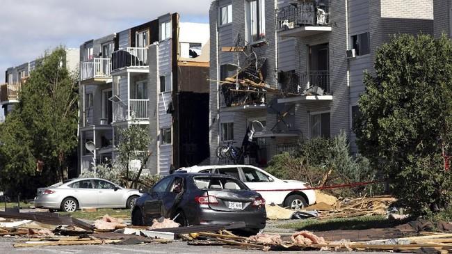 Tornado tersebut disebut dua atau tiga insiden traumatis terbesar yang dialami oleh masyarakat setempat. (REUTERS/Chris Wattie)