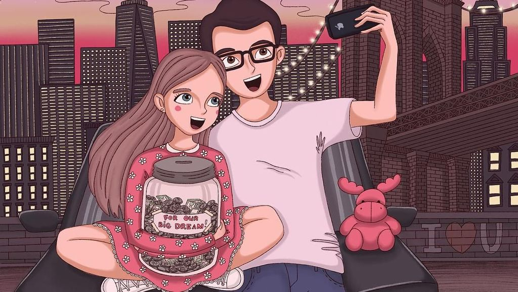 10 Ilustrasi Romantis Ini Buat Jomblo Ingin Cepat Cari Pasangan