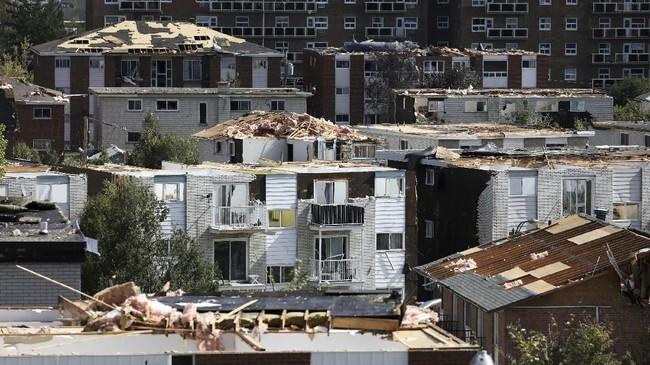 Selain di Quebec, tornado juga menghantam kawasan Gatineau. Di sana, tornado menyerang dengan kecepatan angin 200 kilometer per jam.(REUTERS/Chris Wattie)