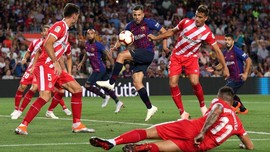 10 Pemain Barcelona Ditahan Imbang Girona