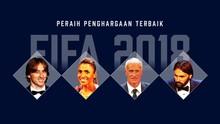 INFOGRAFIS: Peraih Penghargaan Terbaik FIFA 2018