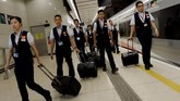 Jalur baru yang akan dibuka adalah bagian dari rel berkecepatan tinggi Guangzhou-Shenzhen-Hong Kong, dan dioperasikan oleh perusahaan MTR Hong Kong. (REUTERS/Tyrone Siu)