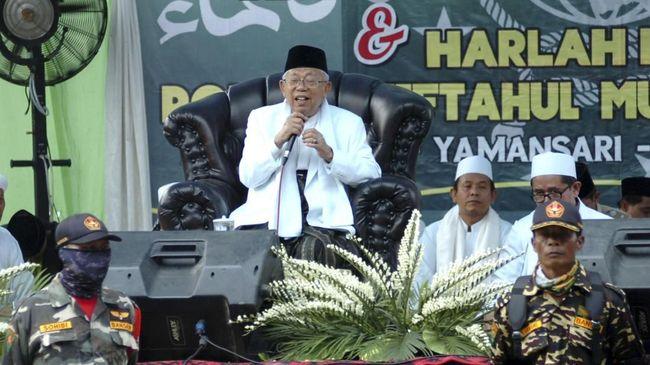 Ma'ruf Targetkan Suara 70 Persen di Kandang Prabowo