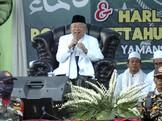 Ma'ruf Amin Klaim Kerja Jokowi Dirasakan Masyarakat
