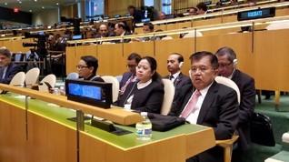 Jusuf Kalla Puji Pidato Trump di PBB