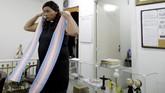 Seorang transgender Alexya Salvador mengajukan diri sebagai kandidat calon legislatif (caleg) di Sao Paulo, Brazil