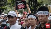 Secara keseluruhan, jumlah honorer K2 yang tercatat dalampusat data BKN ada 438.590 orang.(CNNIndonesia/Safir Makki)