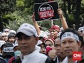 FOTO: Aksi Honorer K2 DKI Jakarta Tuntut Status PNS