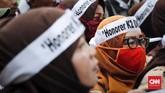 Selain aksi honorer K2 di Jakarta hari ini, selama sepekan terakhir aksi honorer serupa terjadi juga di berbagai wilayahdi seluruhIndonesia.(CNNIndonesia/Safir Makki)