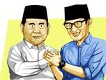 Prabowo Happy Jokowi Tunjuk Sandi Uno Jadi Menteri Parekraf