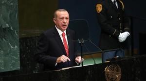 Erdogan Kritik Penggunaan Sanksi Ekonomi di Sidang PBB